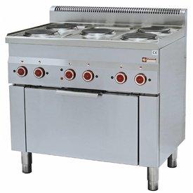 Diamond  Elektroherd 5 Kochplatten und Konvektionsbackofen GN1/1