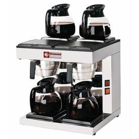 Diamond  Filter Kaffeemaschine - 2-gruppig + 4 Wärmhalteplatten