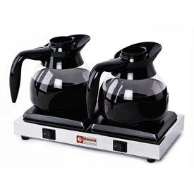Diamond  Warmhalteplatten für 2 Kaffeekannen