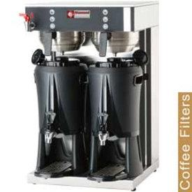 Diamond  Filter Kaffeemaschine - 2 Spenderbehältern von 2x2,5 Lit , Warmwasserhahn