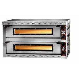 gastro-performance - Serie PX Vollschamott - Elektropizzaofen 4 + 4 - 30 cm Pizzen - Made in Germany -