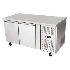 ATOSA Edelstahl Tiefkühltisch 2-türig   240 L