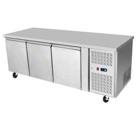 ATOSA Edelstahl Kühltisch 3-türig 420 L