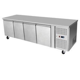 ATOSA Edelstahl Kühltisch 4-türig  480 L