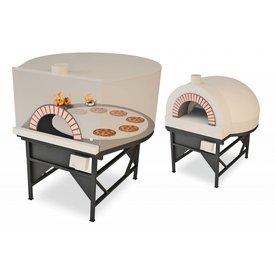 MAM – Easy Drehboden Pizzaofen Feuerart: Kombi: Gas und Holz