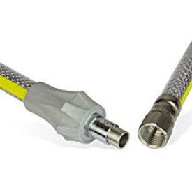 Gasschlauch CNS-umflochten, kunststoffummantelt L 2000mm