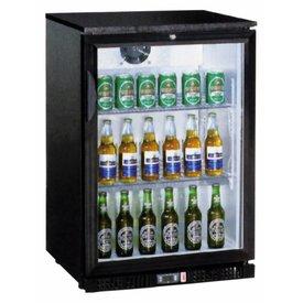 GGG Flaschenkühlschränk  138 Liter, 1 Klapptür schwarz  ∙