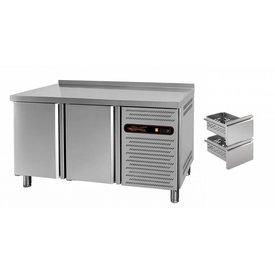 gastro-performance Tiefkühltisch mit 2 Türen oder Schubladen