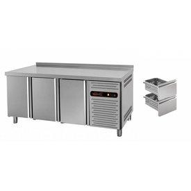 gastro-performance Tiefkühltisch mit 3 Türen oder Schubladen