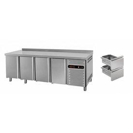 gastro-performance Tiefkühltisch mit 4 Türen oder Schubladen
