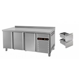 gastro-performance Kühltisch mit 3 Türen oder Schubladen
