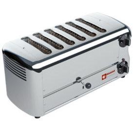 """Diamond  Elektrisch Toaster, 6 Scheiben """"Silver"""""""