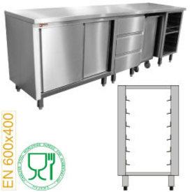 Diamond  Modul für Bäckereimöbel, 6 Niveaus Bleche 600x400