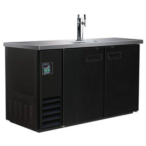 Ausschanktheke 346 Liter, schwarz - 1 Zapfhahn