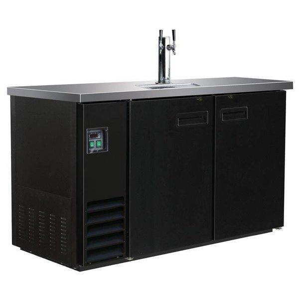 Gastro Ausschanktheke 346 Liter, schwarz - 1 Zapfhahn