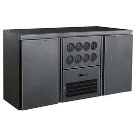 Gastro Flaschenkühltisch 380 Liter, mit Klapptüren Neuheit: Praktischer Kühlbereich für 8 Flaschen