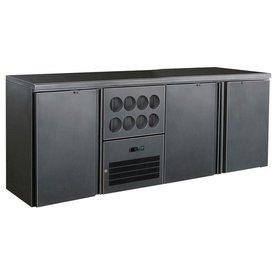 Gastro Flaschenkühltisch 510 Liter, mit Klapptüren  Neuheit: Praktischer Kühlbereich für 8 Flaschen