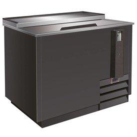 Gastro Flaschenkühler 279 Liter, schwarz, mit Schiebedeckel