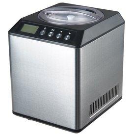 GGG Eismaschine 2 Liter, silber · extra breite & tiefe Schüssel für einfaches Löffeln