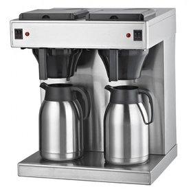 Gastro Filterkaffeemaschine ( Sonder -  Angebot )  2x2 Liter mit Thermoskannen
