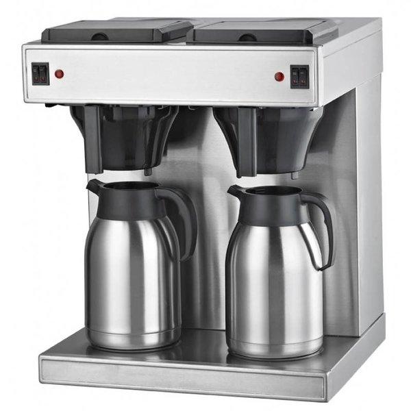 Gastro Filterkaffeemaschine  2x2 Liter mit Thermoskannen