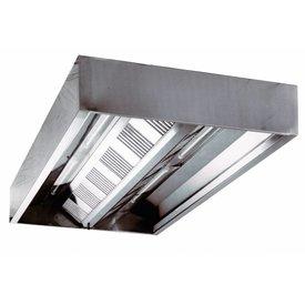 Inox Air Deckenhauben, Kastenform 1200x1800x450mm
