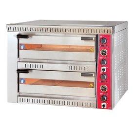 Pizzaofen Vollschamott,400 Volt,4+4 Pizzen a 330 mm
