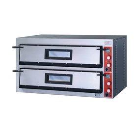 Pizzaofen Vollschamott,400 Volt,2x6 Pizzen a 360 mm