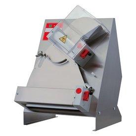 Pizza-Ausrollmaschine für Pizzateig 80 g bis 210 g.
