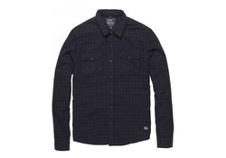 Vintage Industries Harley Shirt Blue Check Heren