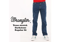 Wrangler Texas Stretch Darkstone Jeans Heren