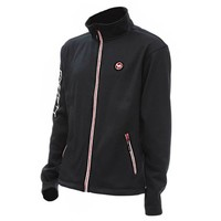 Effzett Microfleece Jacket Zwart-Rood Fleecejack