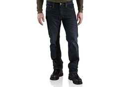 Carhartt Straight Fit Weathered Indigo Jeans Heren