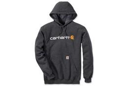 Carhartt Signature Logo Hooded Sweatshirt Carbon Heather Heren
