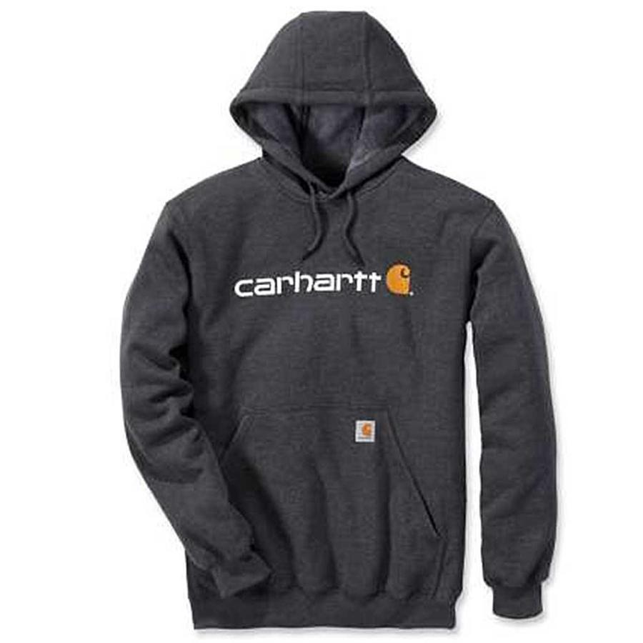 Signature Logo Hooded Sweatshirt Carbon Heather Heren