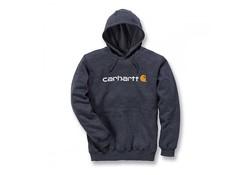 Carhartt Signature Logo Hooded Sweatshirt Charcoal Heather Heren