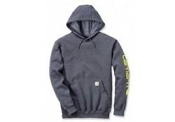 Carhartt Midweight Sleeve Logo Hooded Sweatshirt Charcoal Heather Heren