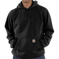 Midweight Hooded Sweatshirt Black Heren
