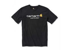 Carhartt Core Logo Black  S-S T-Shirt Heren
