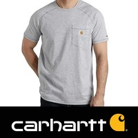 Force Cotton Heather Grey T-Shirt Heren