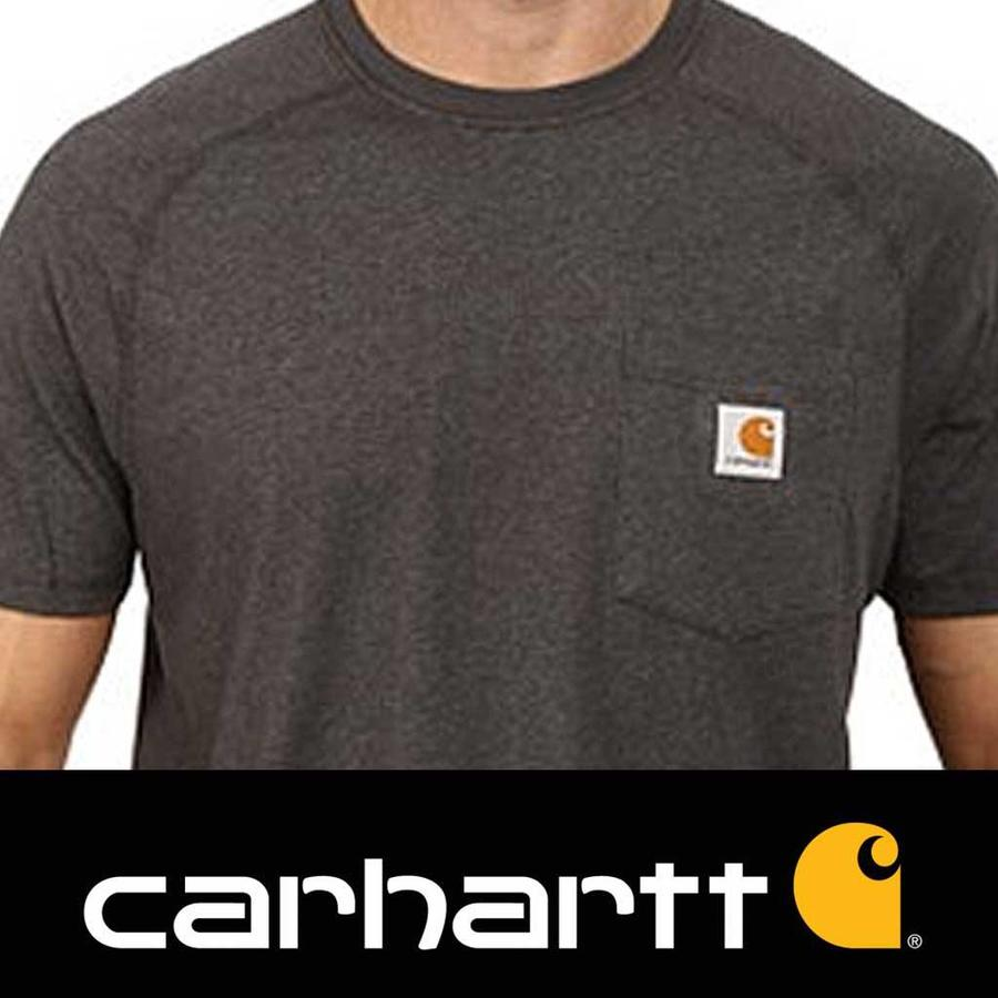 Force Cotton Carbon Heather T-Shirt Heren