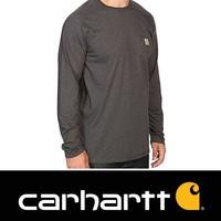 Force Cotton L-S Carbon Heather T-Shirt Heren