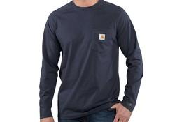 Carhartt Force Cotton L-S Black T-Shirt Heren