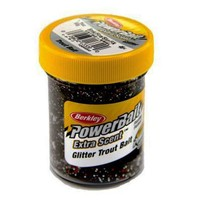 Powerbait Glitter Trout Bait Smoke-Fire-Slvr-Flk