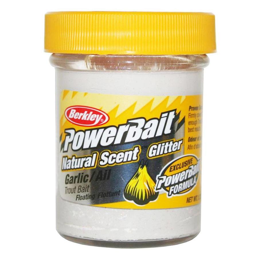 Powerbait Glitter Trout Bait Garlic White