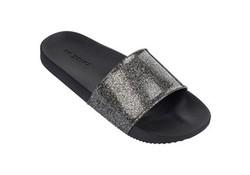 Snap Glitter Black Slippers Dames