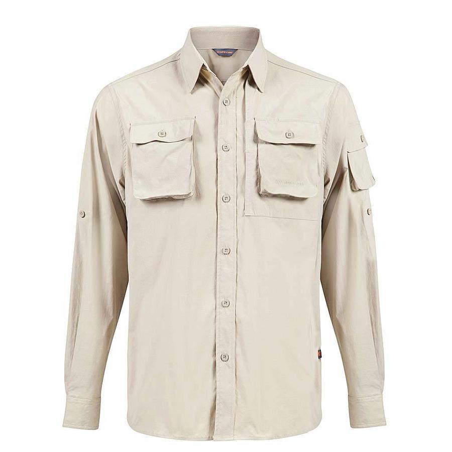 Jowan Greige Shirt Heren