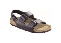 Birkenstock Milano Narrow Zwart Smooth Leather Sandalen Heren