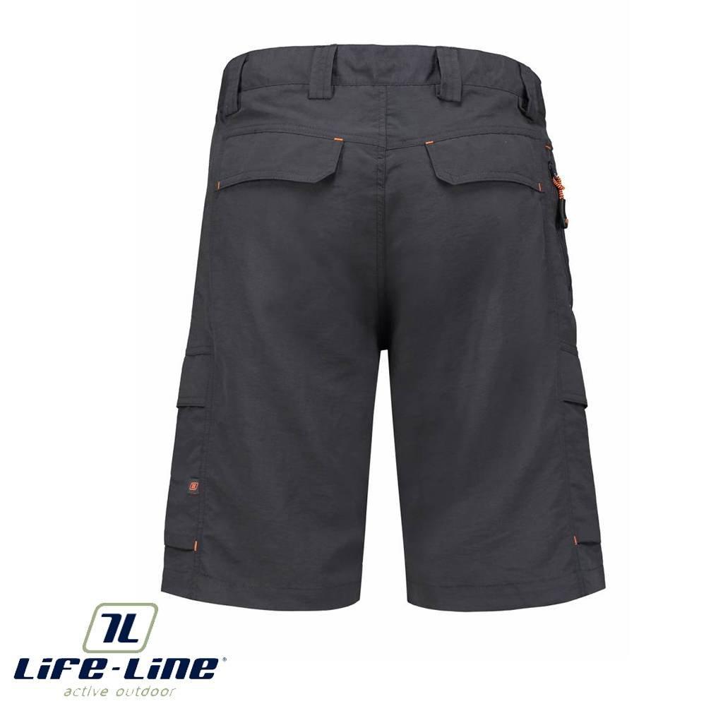Outdoor Korte Broek Heren.Dibo Active Nylon Dark Grey Shorts Heren