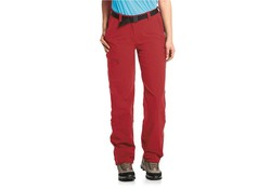 Maier Sports Inara Pants Slim Zip-Off Lang Rood Outdoorbroek Dames